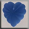 12071 - Frosted Starburst Heart Matte Sapphire 15/14mm - 1 per p